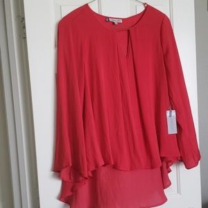 New with tags Jennifer Lopez red cut out top